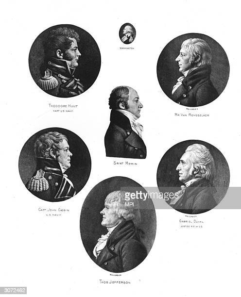US Navy Captain Theodore Hunt Captain John Cassin Thomas Jefferson Supreme Court justice Gabriel Duval American political leader military officer and...