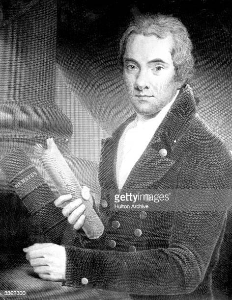 English reformer William Wilberforce, painted by John Russell, holding a copy of the 'Slavetrade Abolition Bill'.