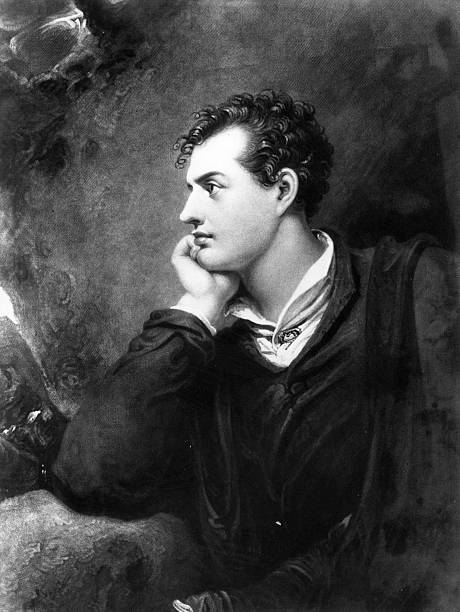 English Romantic poet George Gordon Noel Byron and...