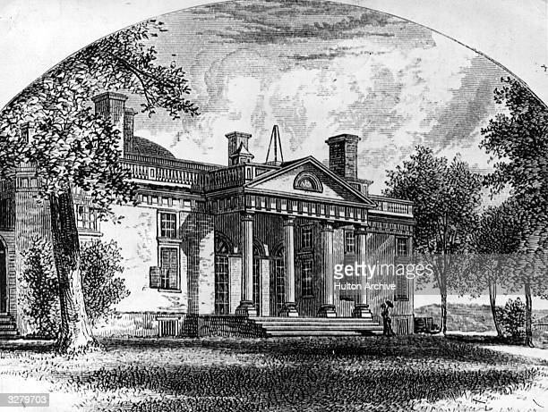 Monticello Charlottesville Virginia the home of the 3rd President of the United States and writer of the Declaration of IndependenceThomas Jefferson
