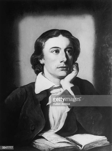 English Romantic poet John Keats Original Publication From a painting by William Hilton