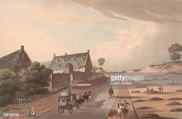 La Haye Sainte on the CharleroiBrussels road near the site of the Battle of Waterloo during the Napoleonic Wars