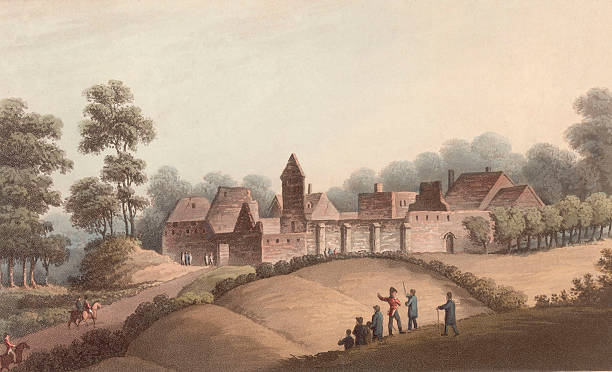 The Chateau d'Hougoumont in Belgium, site of the Battle...