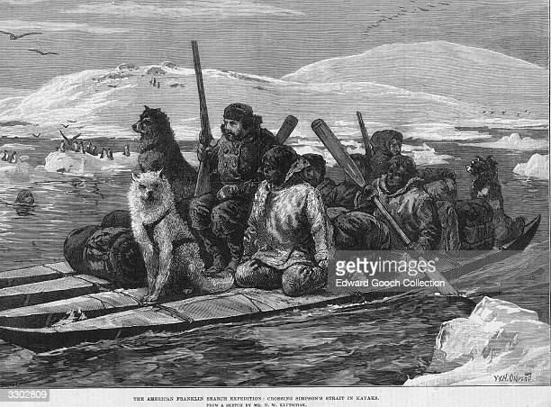British arctic explorer Sir John Franklin sets off in a low boat with a crew supplies and dogs He is believed to have discovered the Northwest passage