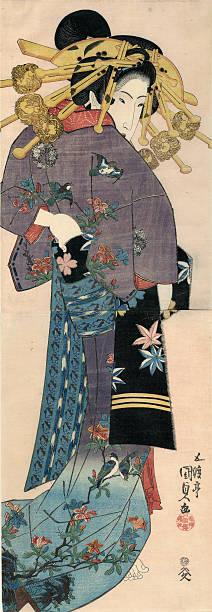 A Standing Bijin By Utagawa Kunisada