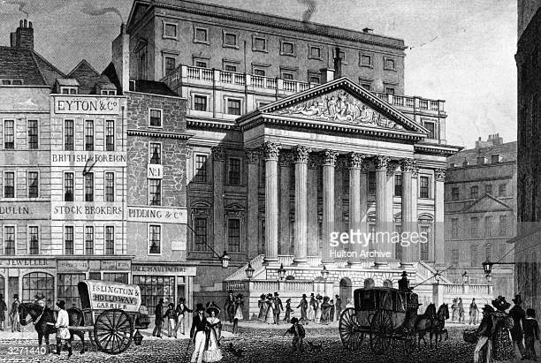 The Mansion House in the City of London the residence of the Lord Mayor of London in an engraving by W Wallace after a drawing by T H Shepherd