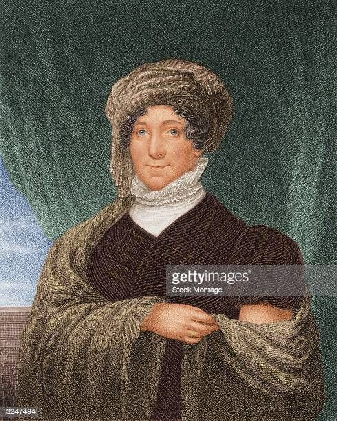 First Lady Dolley Madison nee Payne the wife of American president James Madison and a renowned Washington socialite
