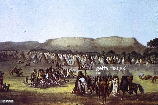 A Pickann or Picgan Native American encampment at McKenzie a trading post near the mouth of the Marais River The Pickanns were sometimes known as the...