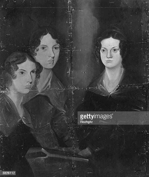 English writers Anne Emily and Charlotte Bronte Original Artwork Painting by their brother Patrick Branwell Bronte
