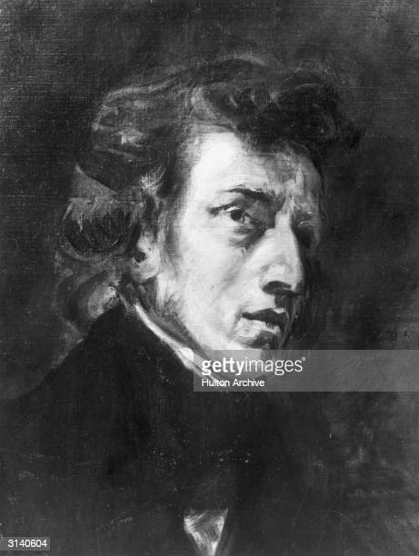 Polish composer and pianist Frederic Francois Chopin Original Artwork After a painting by Ferdinand Delalcroix