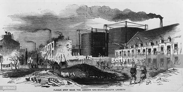 Plague spot near the London gas-works in South Lambeth.