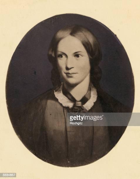 English novelist Charlotte Bronte Original Artwork Portrait by Thompson