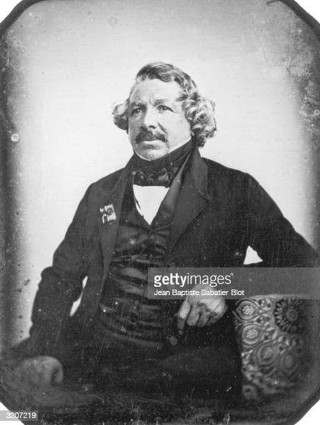Daguerreotype portrait of French painter and photographic pioneer Louis Jacques Mande Daguerre He founded the Diorama in Paris in 1822 and helped to...