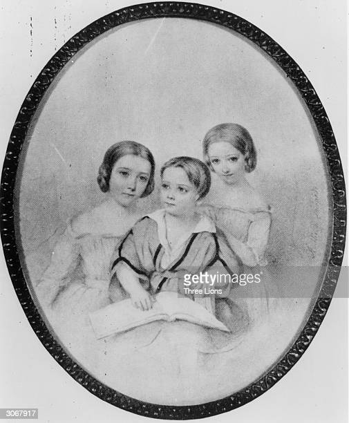 The children of Franz Liszt and Comtesse Marie d'Agoult: Blondine, Daniel and Cosima. Cosima married first Hans von Bulow and secondly Richard Wagner.