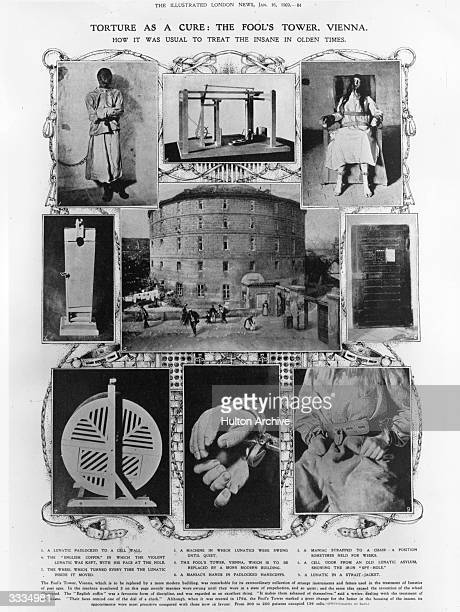 How the insane were treated in days gone by at the Fool's Tower at Vienna erected in 1794 Torture was looked upon as a cure Original Publication...