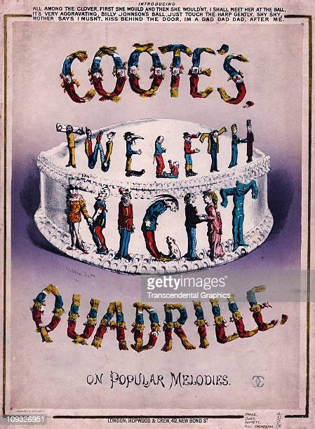 LONDON circa 1850 In a visual celebration of Shakespear's play Twelfth Night the english musician Coote designed a new Quadrille to be played The...