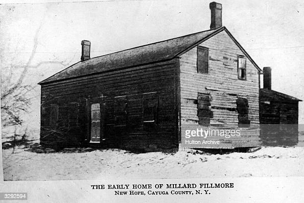 The early home of President Millard Fillmore in New Hope Cayuga County New York State Fillmore was vicepresident to Zachary Taylor and became the...
