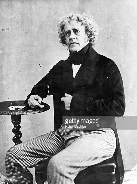 Sir John Frederick Herschel the English pioneer photographer, astronomer and son of Sir William Herschel also an astronomer, this photo was taken...
