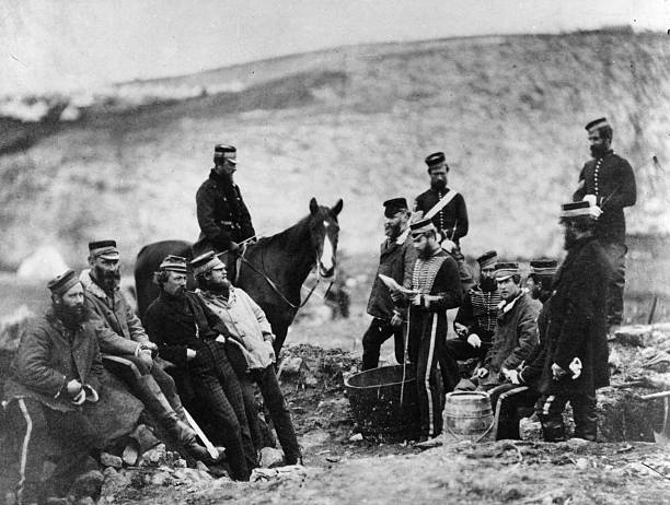 Officers and men of the 8th Hussars, the 'King's Royal...
