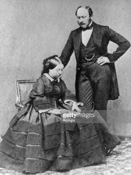 Queen Victoria with her husband Prince Albert .