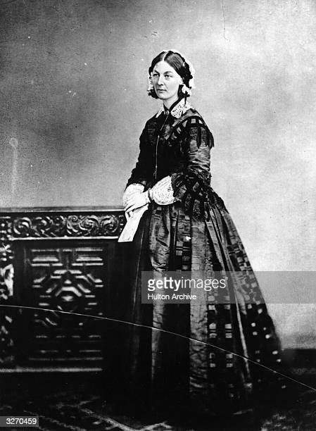 English nurse, hospital reformer and philanthropist Florence Nightingale .