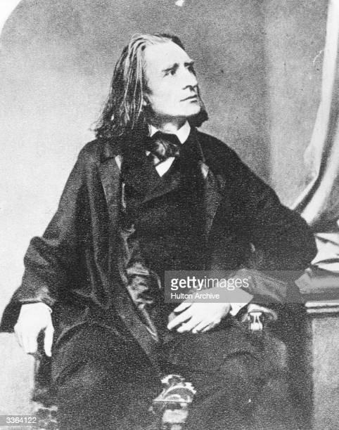 Hungarianborn pianist and composer Franz Liszt originator of the solo piano recital