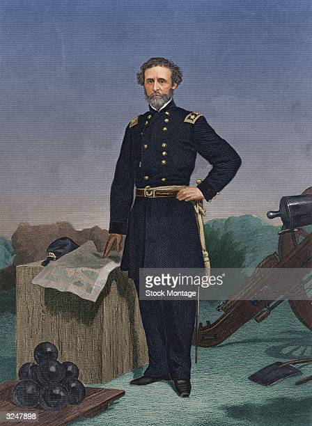 American explorer army officer and politician John Charles Fremont who served as a major general during the American Civil War