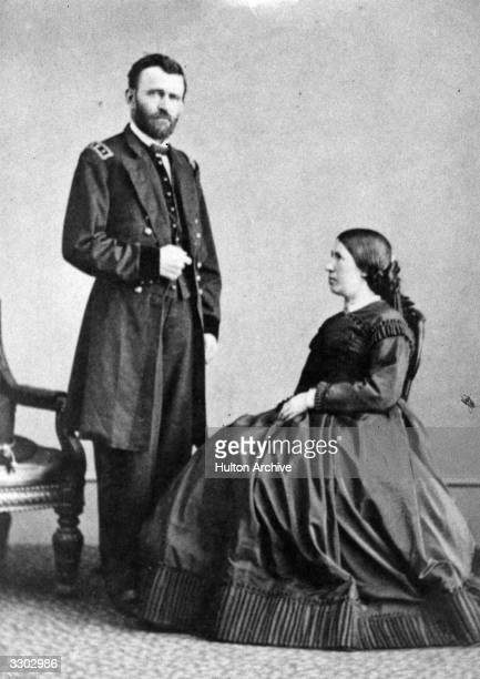 American general Ulysses Simpson Grant later the 18th President of the United States posing with his wife Julia