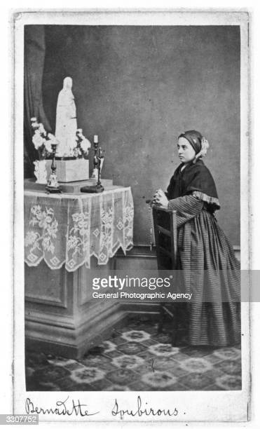 French visionary St Bernadette of Lourdes nee Marie Bernarde Soubirous She was canonized in 1933