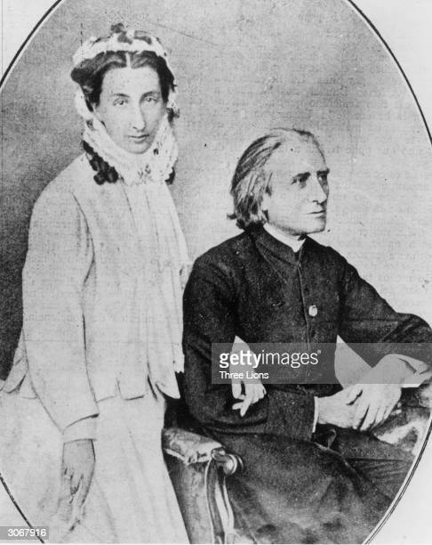 Hungarian composer and pianist Franz Liszt with his daughter Cosima who married Richard Wagner in 1870