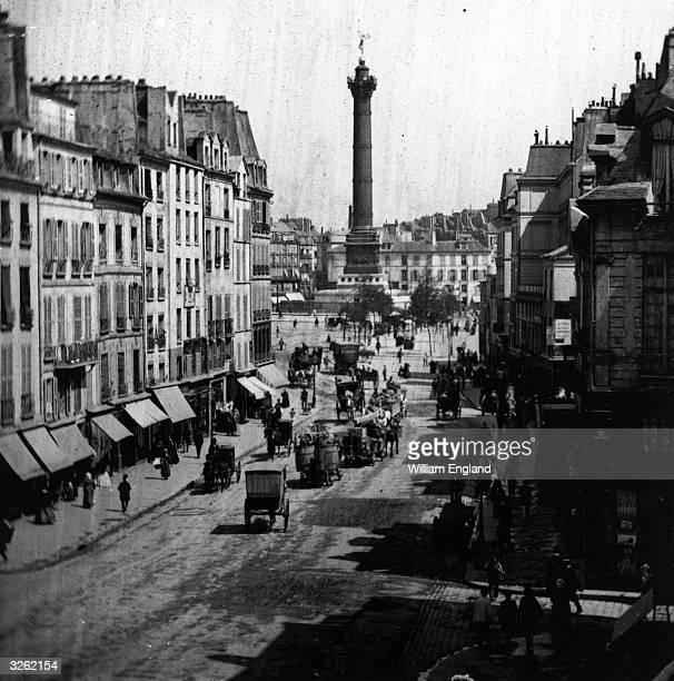 La Colonne de Juillet on the Place de la Bastille at the end of Rue St Paul Paris