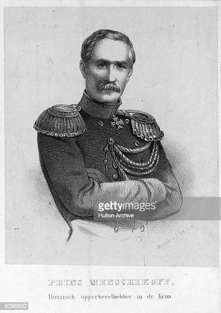 Prince Aleksandr Sergevitch Menshikov , Russian soldier and diplomat.