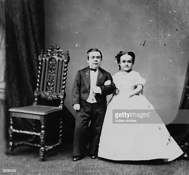 Charles Sherwood Stratton known as General Tom Thumb with his wife Lavinia He was only 40 inches high