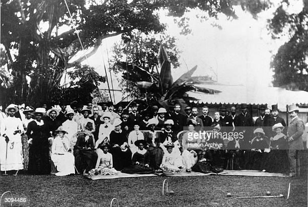 Garden party at Government House in one of the African colonies, possibly Lagos.