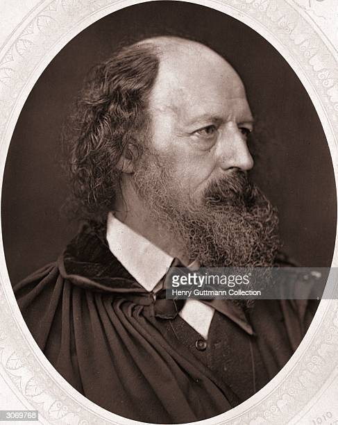 Alfred, Lord Tennyson . Woodbury Type Oval