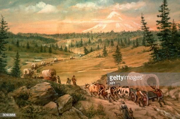 'Barlow Cutoff' near Mount Hood Oregon Original Artist By W H Jackson