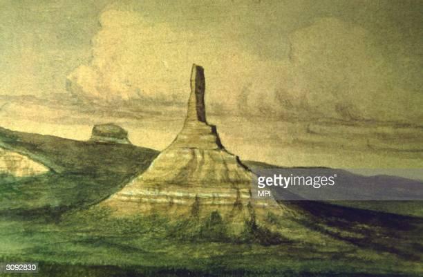 Chimney Rock Nebraska Original Artist By W H Jackson
