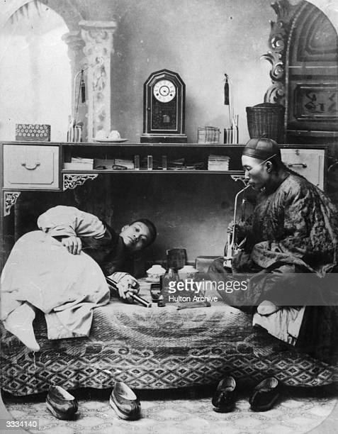 Chinese opium smokers.