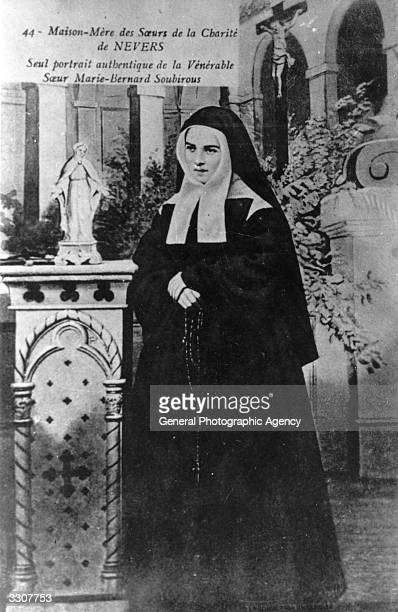 French visionary St Bernadette of Lourdes nee Marie Bernarde Soubirous as a nun with the Sisters of Charity at Nevers She was canonized in 1933 This...