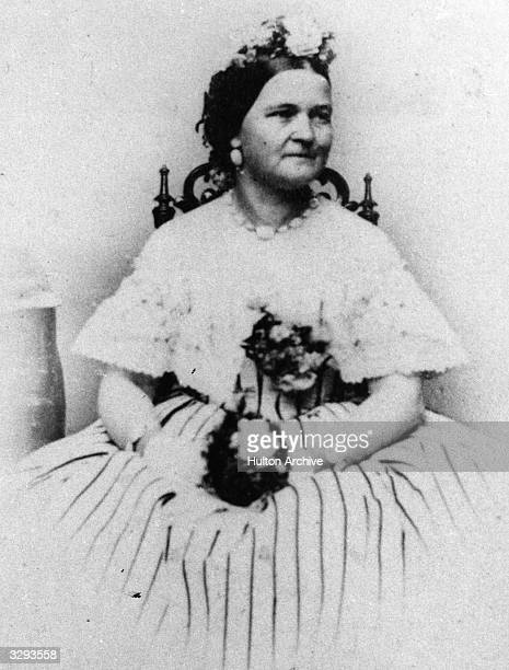 Mary Todd Lincoln nee Mary Todd the wife of Abraham Lincoln the assassinated 16th President of the United States of America They were married in 1842