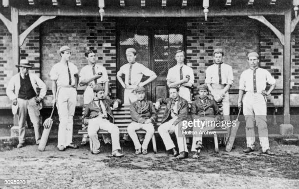 The cricket team of Tonbridge School a public school in Kent