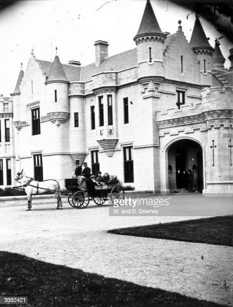 Victoria Queen of Great Britain in the grounds of Balmoral Castle a private royal residence near Ballater on the River Dee in the Scottish Highlands...