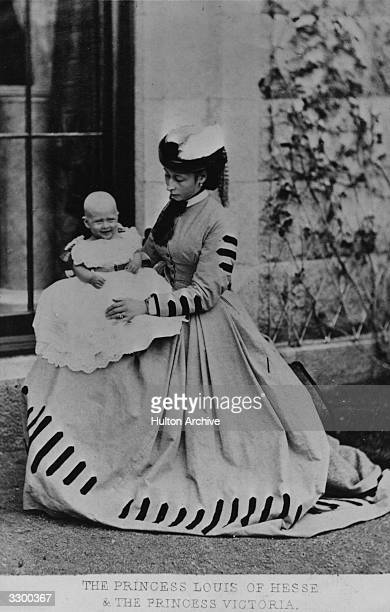 Princess Alice 3rd daughter of Queen Victoria of England who married Prince Louis of Hesse Darmstadt and Princess Victoria