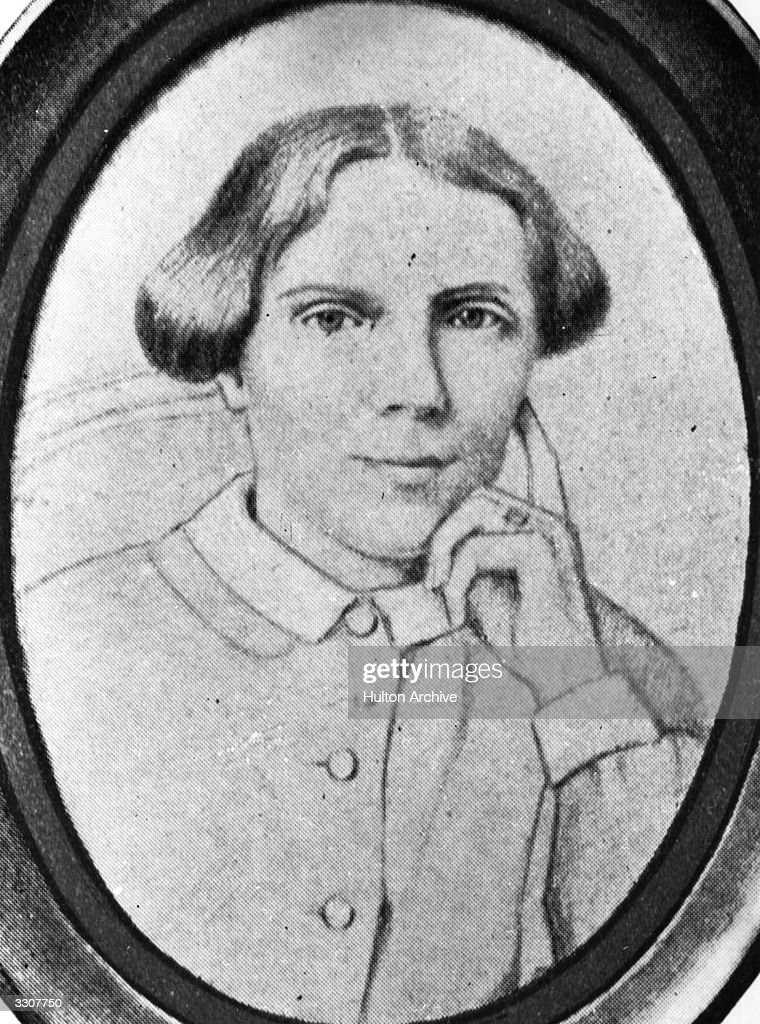 English-born US physician Elizabeth Blackwell, (1821 - 1910), the first woman doctor in the USA.