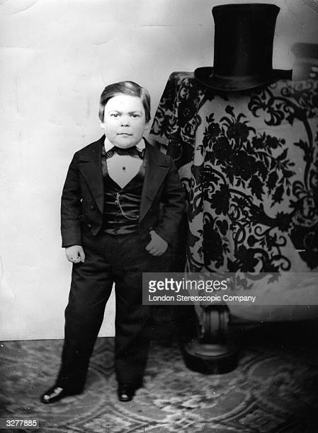 Portrait of the dwarf Tom Thumb Charles Sherwood Stratton was nicknamed General Tom Thumb by P T Barnum the circus owner