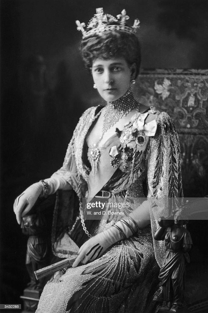 Queen Alexandra (1844 - 1925), queen consort of Edward VII.