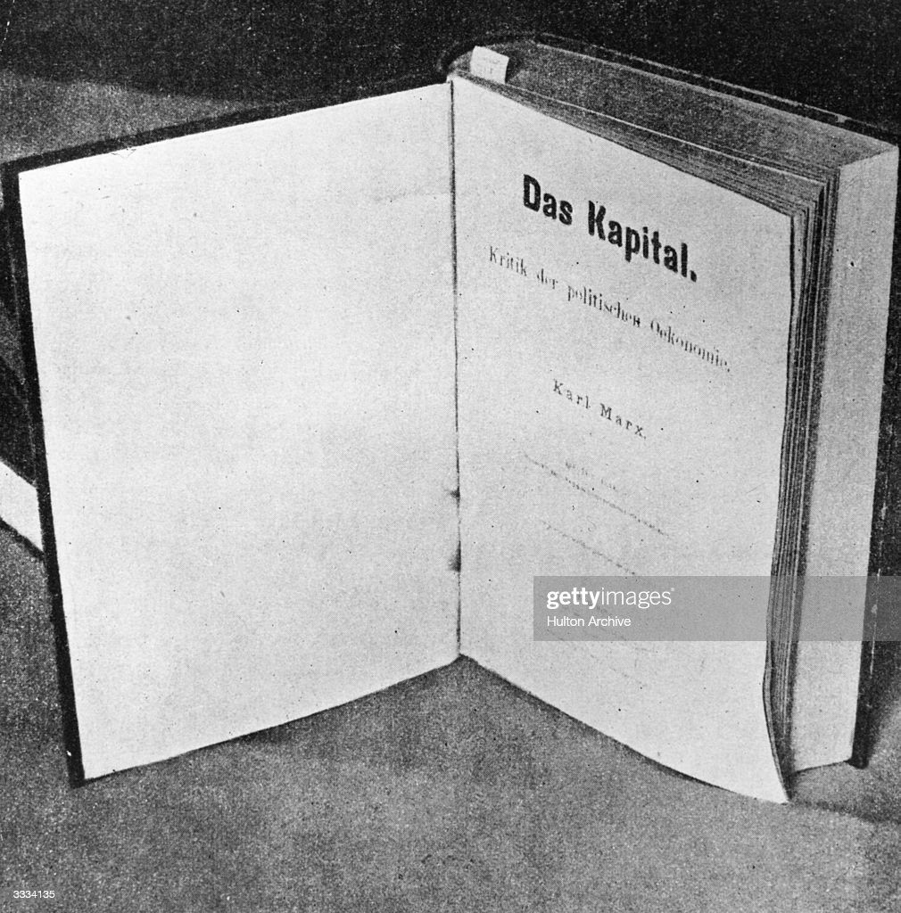 The title-page of Das Kapital by German social, political and economic theorist Karl Marx (1818 - 1883) the inspiration of modern international communism.