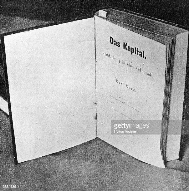 The titlepage of Das Kapital by German social political and economic theorist Karl Marx the inspiration of modern international communism
