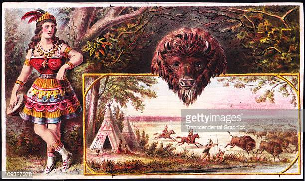 UNKNOWN circa 1870 This carefully designed frontier lithograph probably designed as advertising stock card was published around 1870 in an unknown...