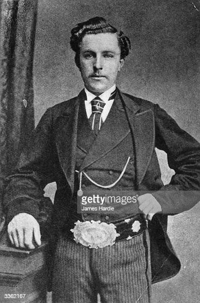 Scottish golfer 'Young' Tom Morris wearing the British Open belt which he won four times 'Young' Tom and his father 'Old' Tom became the only father...